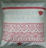 Shabby Chic Cushion Cover in Emma Bridgewater Bee and Roses Summer Garden 16